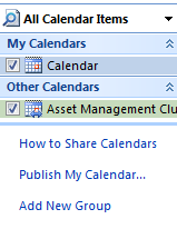 Windows All Calendar Items Top Left Snippet Screenshot