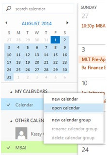 Office 365 Calendar Screenshot 2